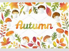 Watercolor Autumn Leaves Frames ~ Illustrations ~ Creative