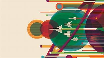 Nasa Background Wallpapers Retro Spaceship Poster Desktop