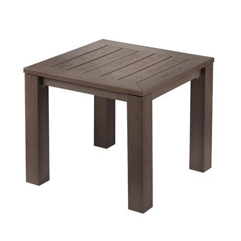 hampton bay tacana square  weather faux wood outdoor