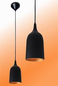 Stehlampe Schwarz Innen Gold : pendelleuchte pendellampe h ngelampe lampe wohnzimmer flur k che k rzbar schwarz ebay ~ Bigdaddyawards.com Haus und Dekorationen