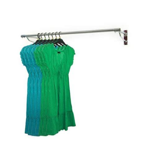 Kleiderstange An Wand Befestigen by 5ft Wall Mounted Clothes Rail Chrome Garment Hanging