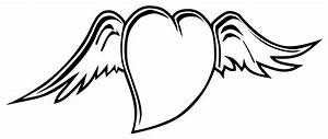 Heart with wings coloring pages i love you - ColoringStar