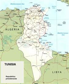 Tunisia Africa Map