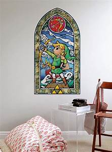 wall decal stained glass wall decal ideas for home With awesome zelda wall decals ideas