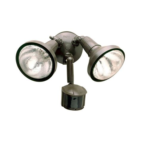 motion light with alarm all pro 180 degree bronze motion activated sensor outdoor