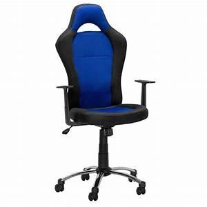 Chaise De Bureau Bleu : chaise de bureau toledo noir bleu ~ Teatrodelosmanantiales.com Idées de Décoration