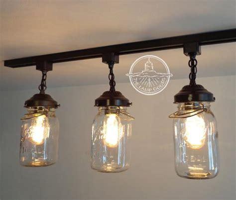 Flush Mount Ceiling Light Mason Jar TRACK LIGHTING Fixture