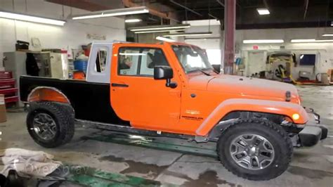 Jeep Jk Truck by Custom Jeep Wrangler Jk 8 Truck Conversion Doovi