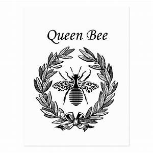 Vintage Queen Bee Postcard | Zazzle