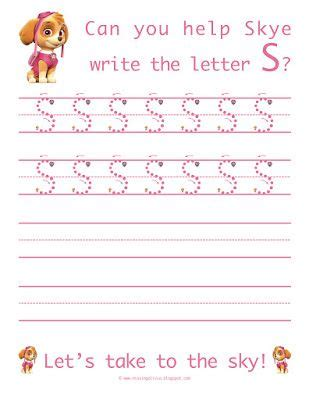 learn  write  letter   paw patrol life