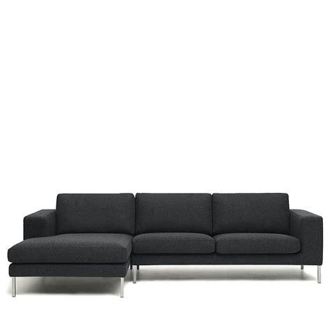 canapé angle gauche canapé d 39 angle gauche tissu et pieds métal biki by modalto