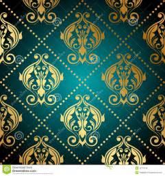 Papier Peint Turquoise Fleur by Papier Peint Fleuri De Turquoise Et D Or Images Libres De