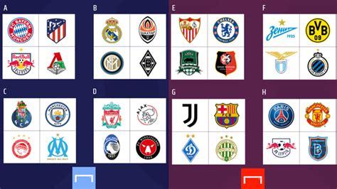 El trofeo de la liga de campeones y las camisetas del manchester city y el chelsea se ven en una 'fan zone' en oporto, el el manchester city de josep guardiola se presenta como favorito ante el chelsea de thomas tuchel en la final de la uefa champions league, el. Así quedó el sorteo de la fase de grupos de la UEFA Champions League 2020-2021 - La Noticia Web