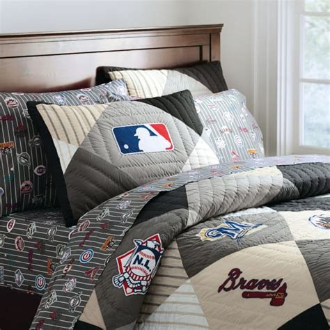 baseball themed bedding 2012 mlb national league quilt sham pbteen 1494