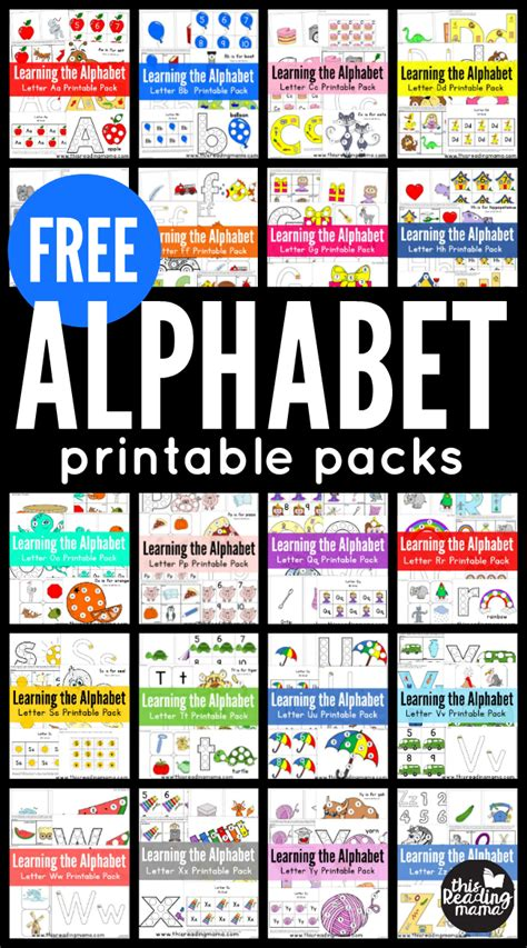 printables  learning activities  reading mama