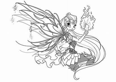 Winx Coloring Club Bloomix Pages Enchantix Para