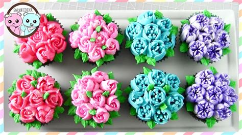 cakes decorated with russian tips russian piping tips flower cupcakes flower cake