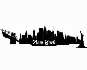 Skyline Bilder Schwarz Weiß : autoaufkleber new york aufkleber skyline plot4u ~ Orissabook.com Haus und Dekorationen