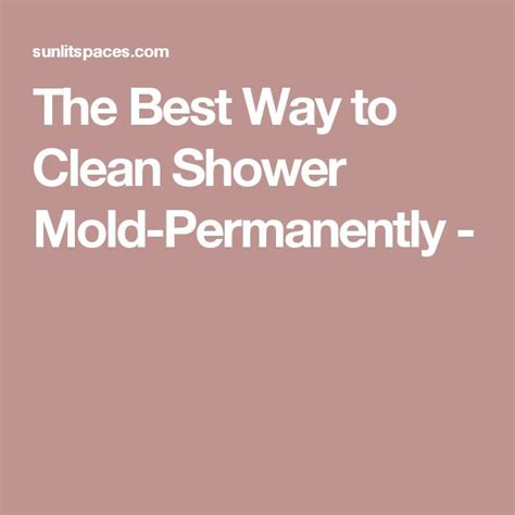 17 best ideas about cleaning shower mold on
