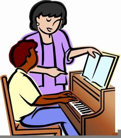 Piano Clipart Lessons Teacher Cliparts Students Guitar
