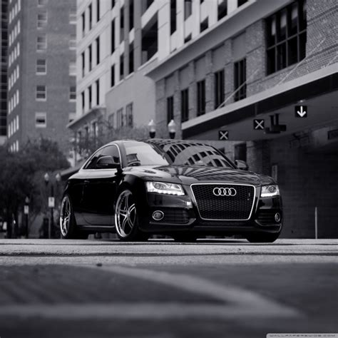 Audi A5 Black And White 4k Hd Desktop Wallpaper For 4k