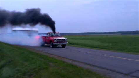 huge st gen cummins burnout black smoke media