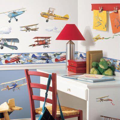 vintage planes borduere roommates  kids handpuppen