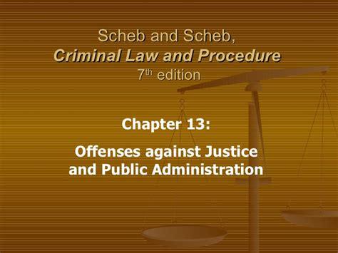 ch  offenses  justice public admin