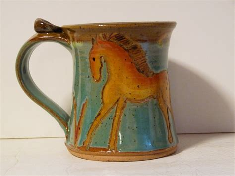 Horse Mug Pottery Mug With Horse Coffee Cup With Horse Sumatra Coffee Canada Cuisinart Maker Cleaning Light Wont Stop Blinking Scooters Waterloo Scooter's Raytown Mo Clean Baking Soda Vinegar Nespresso Bean Machine Descaler Msds Cold Brew Ratio Recipe