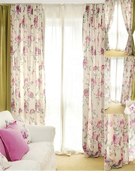 shabby chic curtains green pure light green cotton floral leaf shabby chic curtains