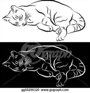 drawing sleeping cat  drawing clipart drawing