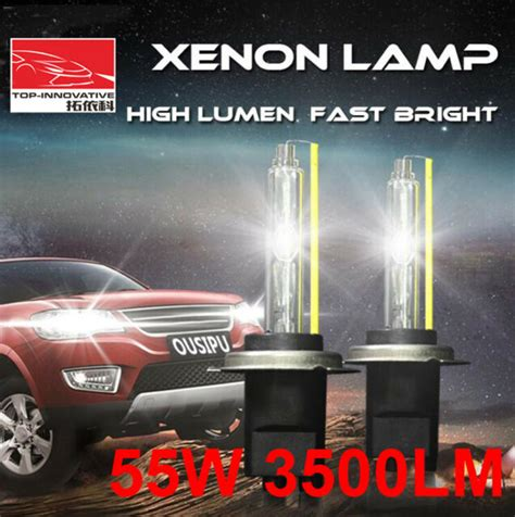 55w hid 5500k lumen xenon 3500lm bulbs pair bright fast
