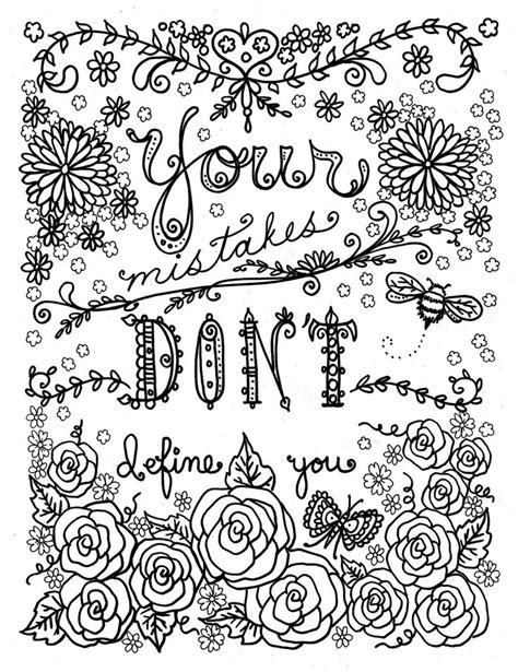 Coloring Quotes For Adults Printable by Quote Coloring Pages For Adults And Best Coloring