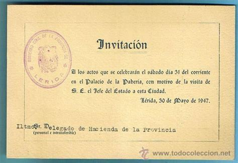 invitacion para almorzar almuerzo ofrecido a don francisco