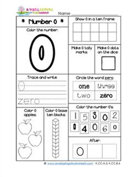 number worksheets for kindergarten number 0 worksheet