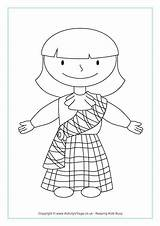 Colouring Coloring Pages Scottish Activities Burns Night Sheets Tartan Crafts Printable Dance Traditional St Toddlers Flag Activityvillage Children Robert Worksheets sketch template