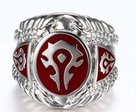 wow horde steel ring  dragon shop