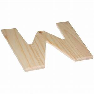 12quot natural wood letter w u0993 w craftoutletcom With natural wood letters