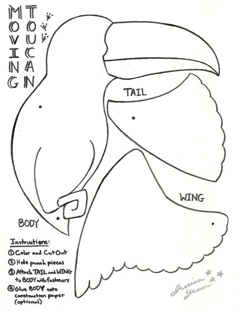 toucan body template toucan by jessicayean on deviantart