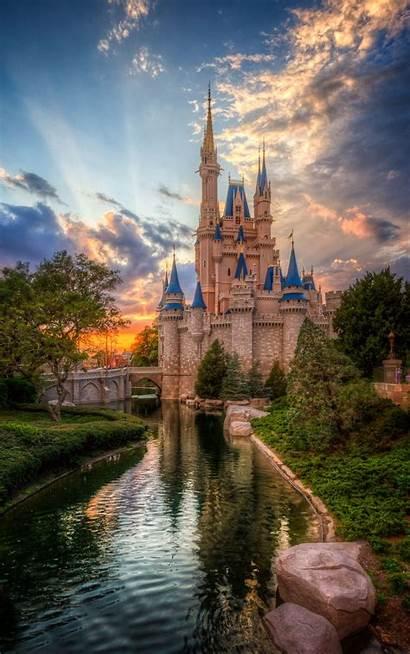 Castle Cinderella Disney Sunset Disneyland Castles Jack