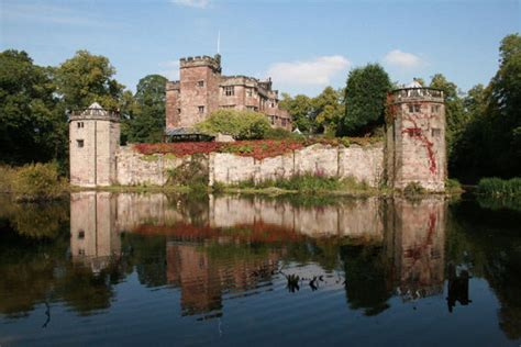 modern wall caverswall castle a stunning historic moated castle set