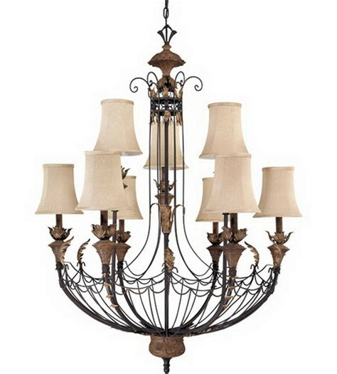 9 light chandelier gilded cage 9 light chandelier with shades ebay