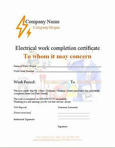 Microsoft Office Inventory Template Electrical Work Completion Certificate Microsoft Word