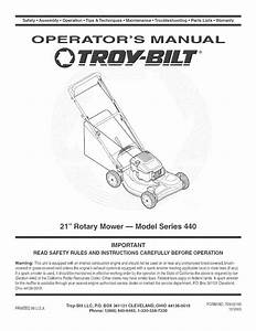 Troybilt 12a 446a711 User Manual Mower Manuals And Guides