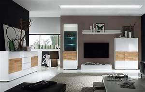 Wohnzimmer Landhausstil Weiß : wohnzimmer elion weiss eiche wohnwand 310cm kommode ~ Frokenaadalensverden.com Haus und Dekorationen
