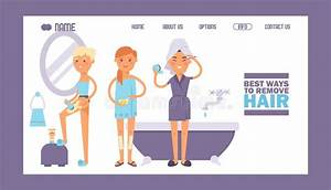 Shaving Legs Female Beauty Procedure Hair Removal Stock