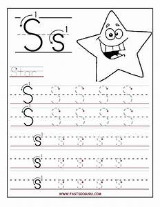 printable letter s tracing worksheets for preschool for With preschool learning to write letters