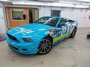 2014 Ford Mustang GT wrapped with Avery MPI series with UV lamination.