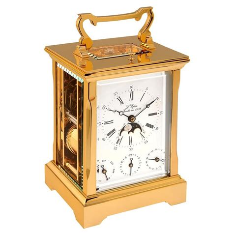 to the uttermost l 39 epee anglaise gold plated carriage clock 64 67410 01