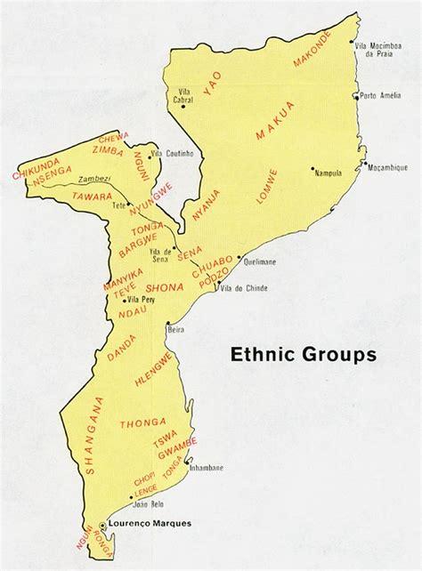 Mapa Grupos Étnicos Mozambique 1973